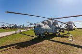 Togliatti, Russia - May 2, 2013: The Mil Mi-24V (nato Reporting Name