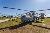 Togliatti, Russia - May 2, 2013: The Mil Mi-24V (nato Reporting Name