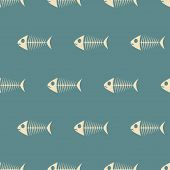 Fish Sceletons Pattern