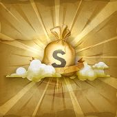 picture of sack dollar  - Moneybag - JPG