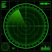 image of crosshair  - Radar screen - JPG
