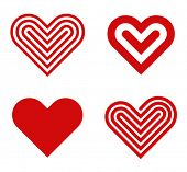 picture of cardiology  - Heart shape vector logo design template collection - JPG