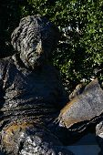WASHINGTON, D.C., DECEMBER 28, 2013: Albert Einstein Memorial - bronze statue by Robert Berks on the