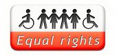 stock photo of equality  - equality and solidarity equal rights and opportunities no discrimination - JPG