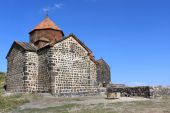 foto of apostolic  - Stone apostolic church on a hill Armenia - JPG