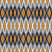 Vector ethnic pattern with zigzag lines