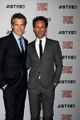 LOS ANGELES - JAN 6:  Timothy Olyphant, Walton Goggins at the