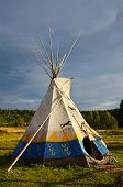 stock photo of wigwams  - Colored National wigwam of American Indians - JPG
