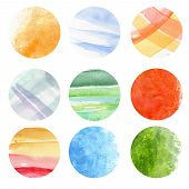 Round watercolor
