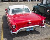 1957 Red Ford Thunderbird Back View