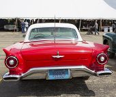 1957 Red Ford Thunderbird Rear View