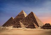 stock photo of pharaoh  - Pyramides of Gizeh  - JPG
