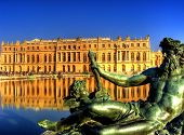 Beautiful Gardens of Chateau Versailles near Paris in France