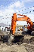 Hitachi Orange Digger And Deep Hole