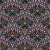 Art deco vector floral pattern