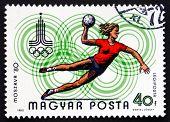 Postage Stamp Hungary 1980 Handball, Moscow 1980
