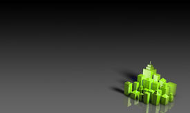 pic of environmentally friendly  - Green Environment Friendly 3d City as Background - JPG