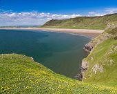 Rhossili Bay Wales Uk