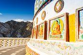 Shanti Stupa sculpture