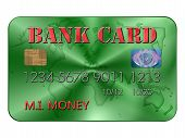 Bank Card In Red And Green