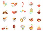 Cake candy and ice cream icons