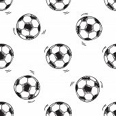 Seamless pattern with soccer balls