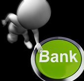 Bank Pressed Shows Deposits Withdrawals And Payments