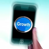 Growth On Mobile Phone Means Get Better Bigger And Developed