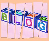 Blog Letters Show Internet Marketing Opinion Or News