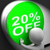 Twenty Percent Off Pressed Shows 20 Price Reduction