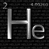 stock photo of helium  - Helium element concept in metal letters on name - JPG