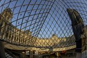 Louvre Museum Through The Pyramid