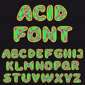 Psychodelic Alphabet For Design