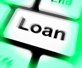 Loan Keyboard Means Lending Or Providing Advance