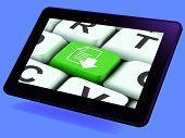 Download File Key Tablet Shows Downloaded Software Or Data