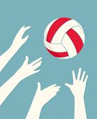 Hands Playing Volleyball