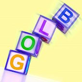 Blog Word Show Blogger Internet And Niche