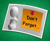 Don't Forget Photo Means Important Remember Forgetting