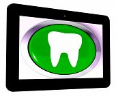Tooth Tablet Means Dental Appointment Or Teeth