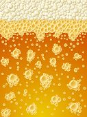 Abstract foamy light beer vertical background.