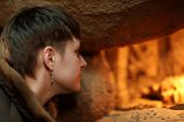 pic of terrarium  - Woman looking at terrarium in the zoo