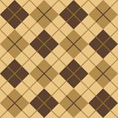 Argyle in Brown and Beige