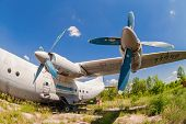 Samara, Russia - May 25, 2014: Old Russian Aircraft An-12 At An Abandoned Aerodrome. The Antonov An-