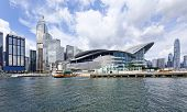 Hong Kong Skyline , Wan Chai Waterfront Promenade