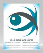 Striking eye design with copy space.