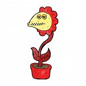 cartoon monster flower
