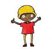 cartoon boy with positive attitude