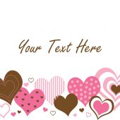 Brown And Pink Hearts Border