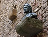 picture of alighieri  - Ancient Bust of Dante Alighieri on Casa di Dante Florence Italy - JPG