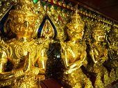 foto of garuda  - Golden garuda at the museum Bangkok Thailand - JPG